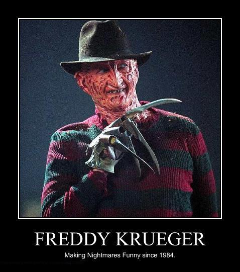 Vignetta con scritto: Freddy Krueger, making nightmares funny since 1984