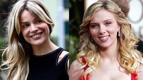 Micaela Ramazzotti e Scarlett Johansson in due foto a confronto, entrambi voci doppiatrici nel film Lei di Spike Jonze