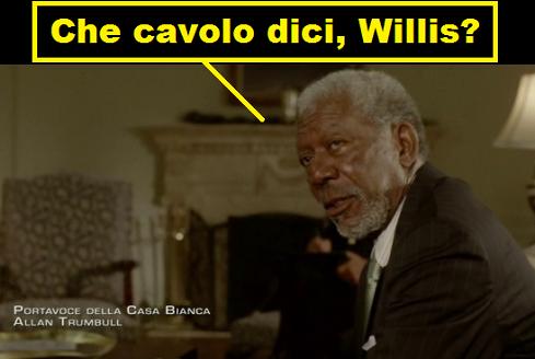 Vignetta con Morgan Freeman che dice: che cavolo dici, Willis?