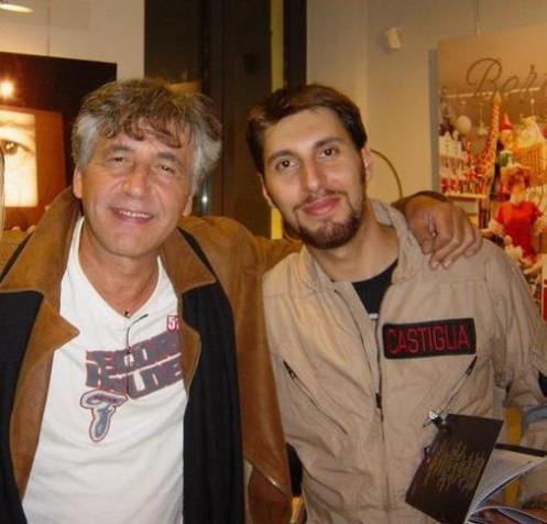 Piero Castiglia con Mario Cordova (voce di Egon)
