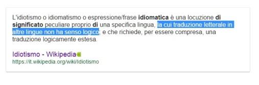 idiomatismo definizione