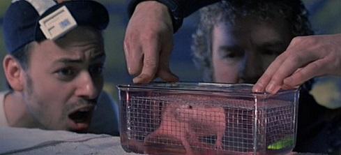 Scena del topo che respira sott'acqua, nel film The Abyss