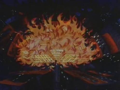 Scena di Fritz il gatto con doppiaggio dialettale, scena dell'incendio all'università